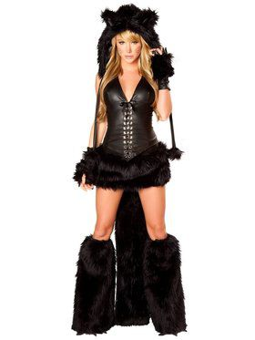 Sexy Deluxe Black Cat Adult Costume