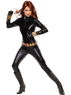 Sexy Deluxe Black Widow Womens Costume
