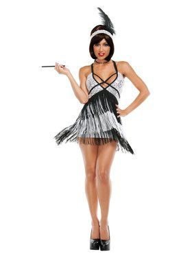 Sexy Deluxe Boardwalk Flapper Adult Costume