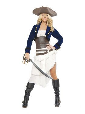 Sexy Deluxe Colonial Pirate Costume