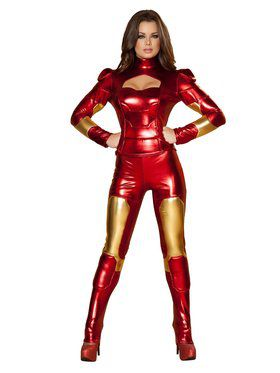 Sexy Deluxe Hot Metal Mistress Adult Costume