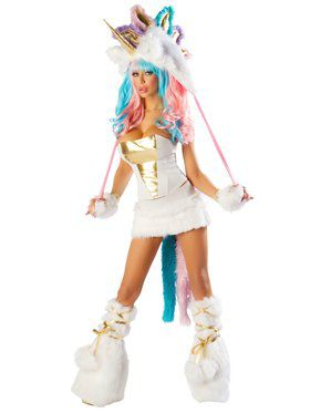Sexy Deluxe Josie Loves J Valentine Unicorn Corset & Skirt Women's Costume
