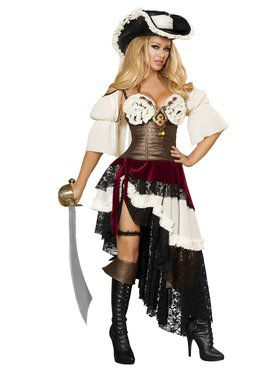 Sexy Deluxe Pirateer Adult Costume