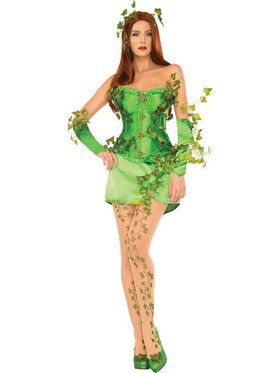 Sexy Deluxe Poison Ivy Womens Costume