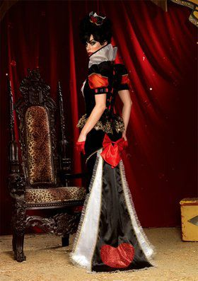 Sexy Deluxe Royal Red Queen Women's Costume