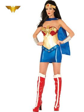 Sexy Deluxe Wonder Woman Womens Costume