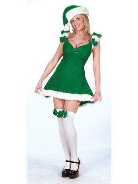Sexy Elf Dress Green Costume