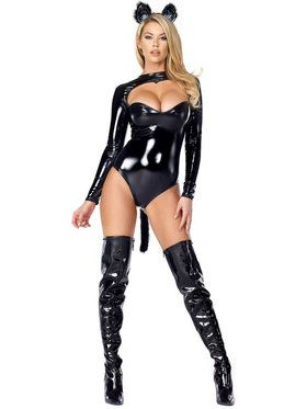 Sexy Feline Fetish Women's Costume