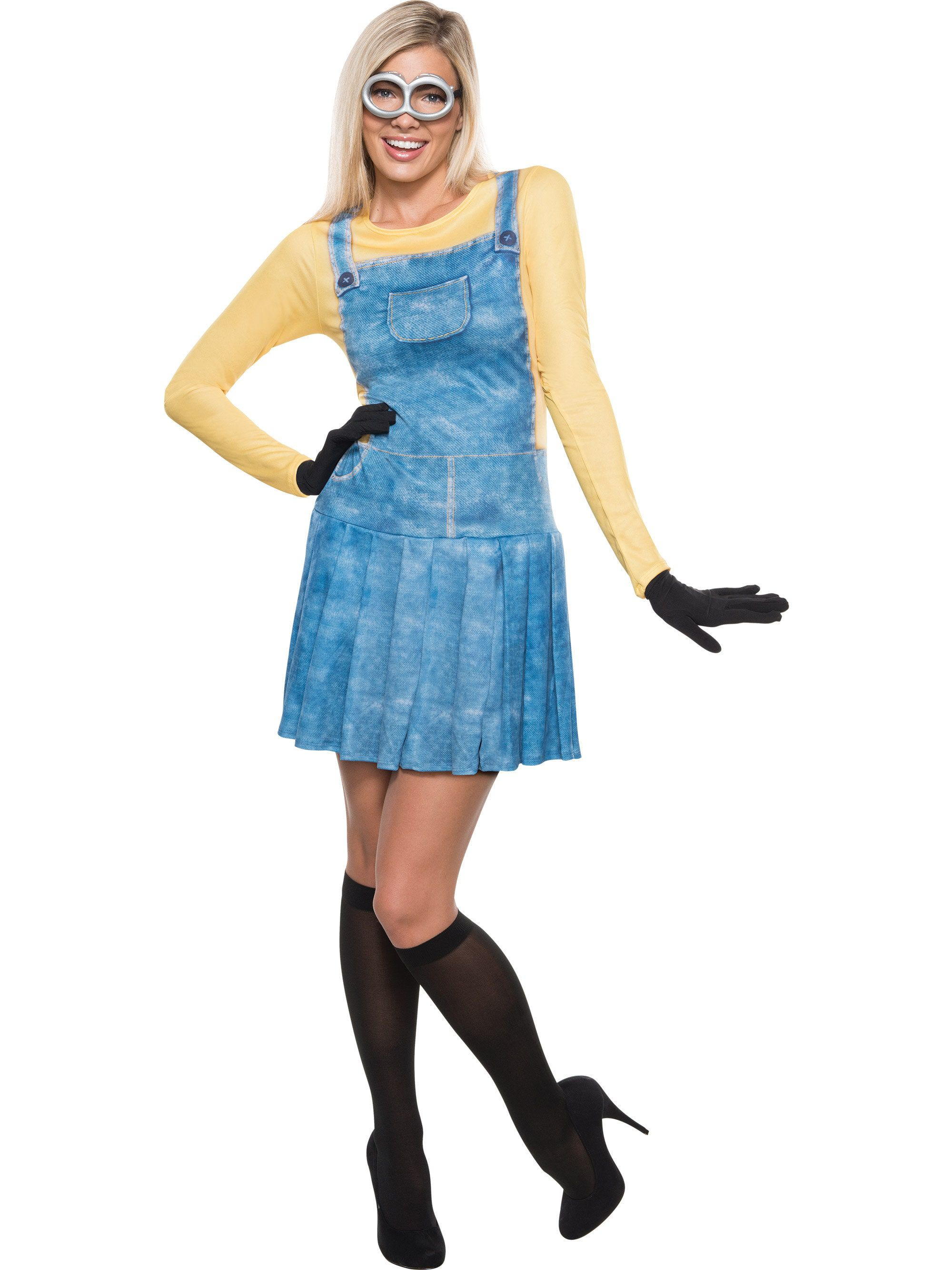 Minion Halloween Costumes For Girls.Sexy Female Minion Womens Costume Womens Costumes For 2018