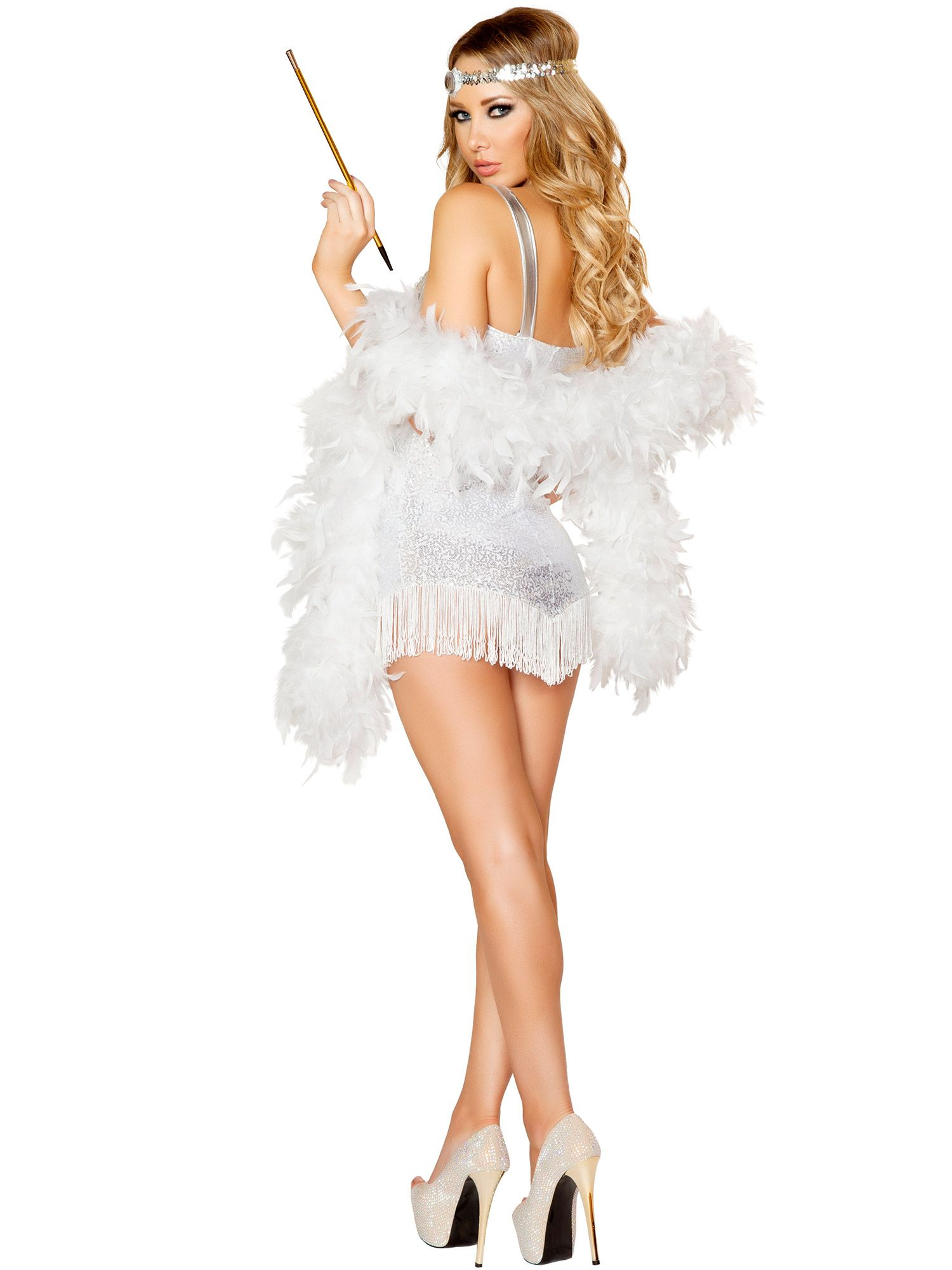 adult femme fatale flapper sexy costume ebay. Black Bedroom Furniture Sets. Home Design Ideas
