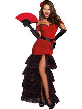 Sexy Flamenco Women's Costume