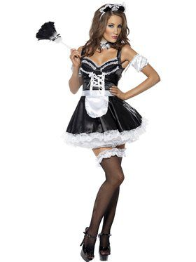 Sexy Flirty French Maid Women's Costume