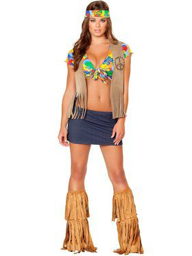 Sexy Foxy Flower Child Women's Costume