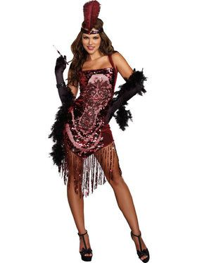 Sexy Gatsby Girl Women's Costume