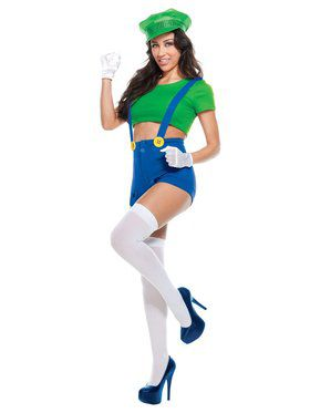 Sexy Green Player Adult Costume
