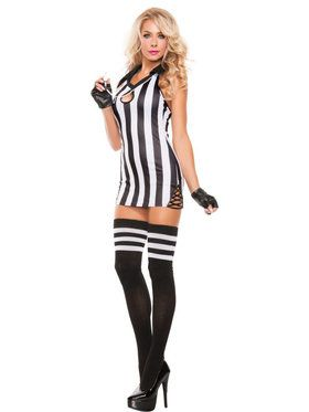 Sexy Halter Referee Women's Costume