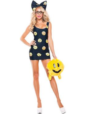 Sexy Happy Face Emoji Women's Costume