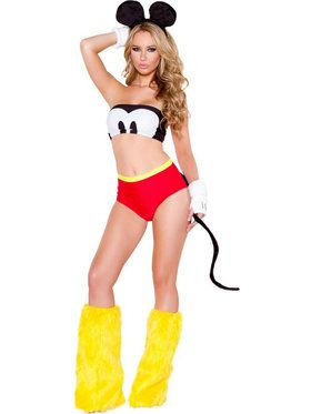 Sexy Happy Mouse Women's Costume