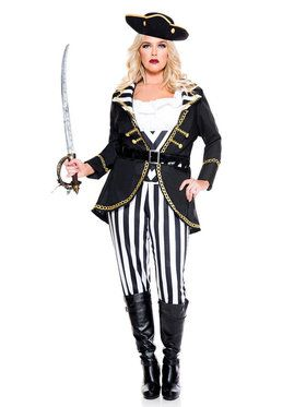 Classic Sexy Adult High Seas Pirate Captain Costume