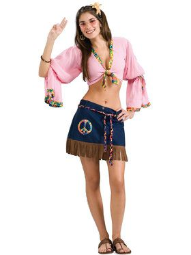 Sexy Hippie Chickie Adult Costume