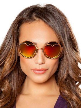 Sexy Hippie Glasses with Heart Lens Frame
