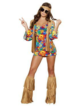 Sexy Hippie Hottie Adult Costume