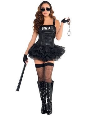 Sexy Hot Swat Women's Costume