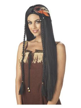 Sexy Indian Princess Black Wig