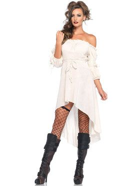 Sexy Ivory Peasant Dress Women's Costume