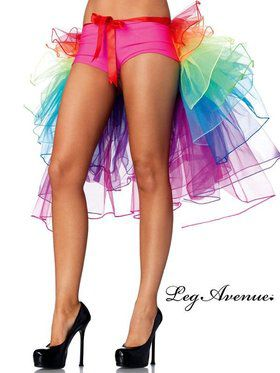 Sexy Layered organza rainbow bustle