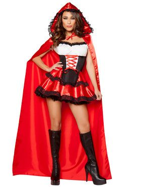 Women's Sexy Classic Little Red Rider Costume