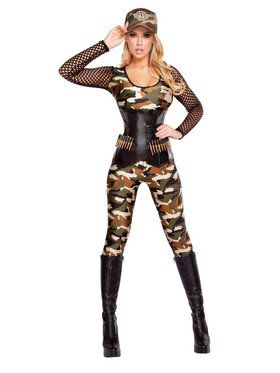 Sexy Lusty Lieutenant Women's Costume