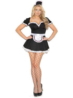 Sexy Maid to Please Plus Women's Costume