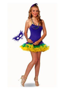 Sexy Mardi Gras Petticoat Dress Costume