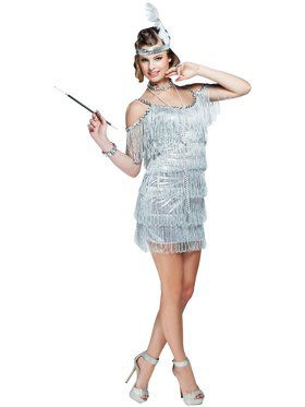 Sexy Martini Flapper Women's Costume