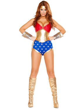 Sexy Mighty Comic Book Hero Women's Costume