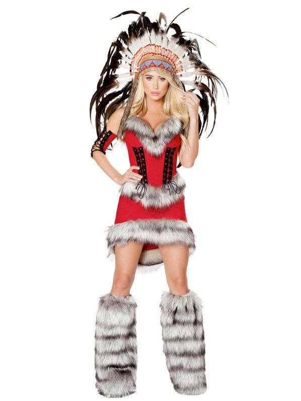Sexy Native American Babe Costume - Womens Costumes For -4465