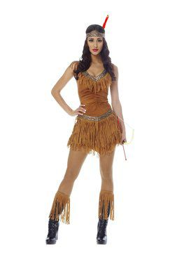 Sexy Native American Indian Maiden Adult Costume