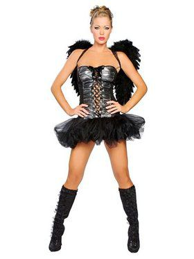 Sexy Naughty Dark Angel Adult Costume