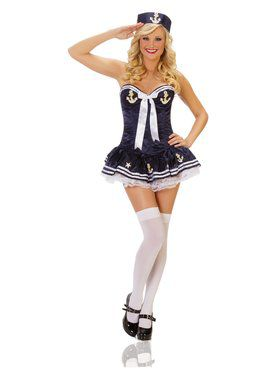 Sexy Navy Paris Sailor Adult Costume