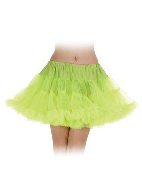 Sexy Neon Green Layered Petticoat Tutu Women's Skirt