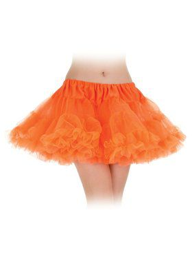 Sexy Neon Orange Layered Petticoat Tutu Sexy Women's Skirt
