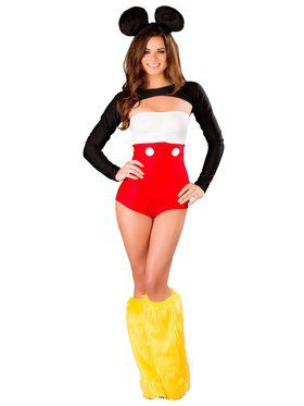 Sexy Nicky Mouse Romper Adult Costume