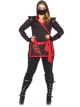 Sexy Ninja Assassin Plus Women's Costume