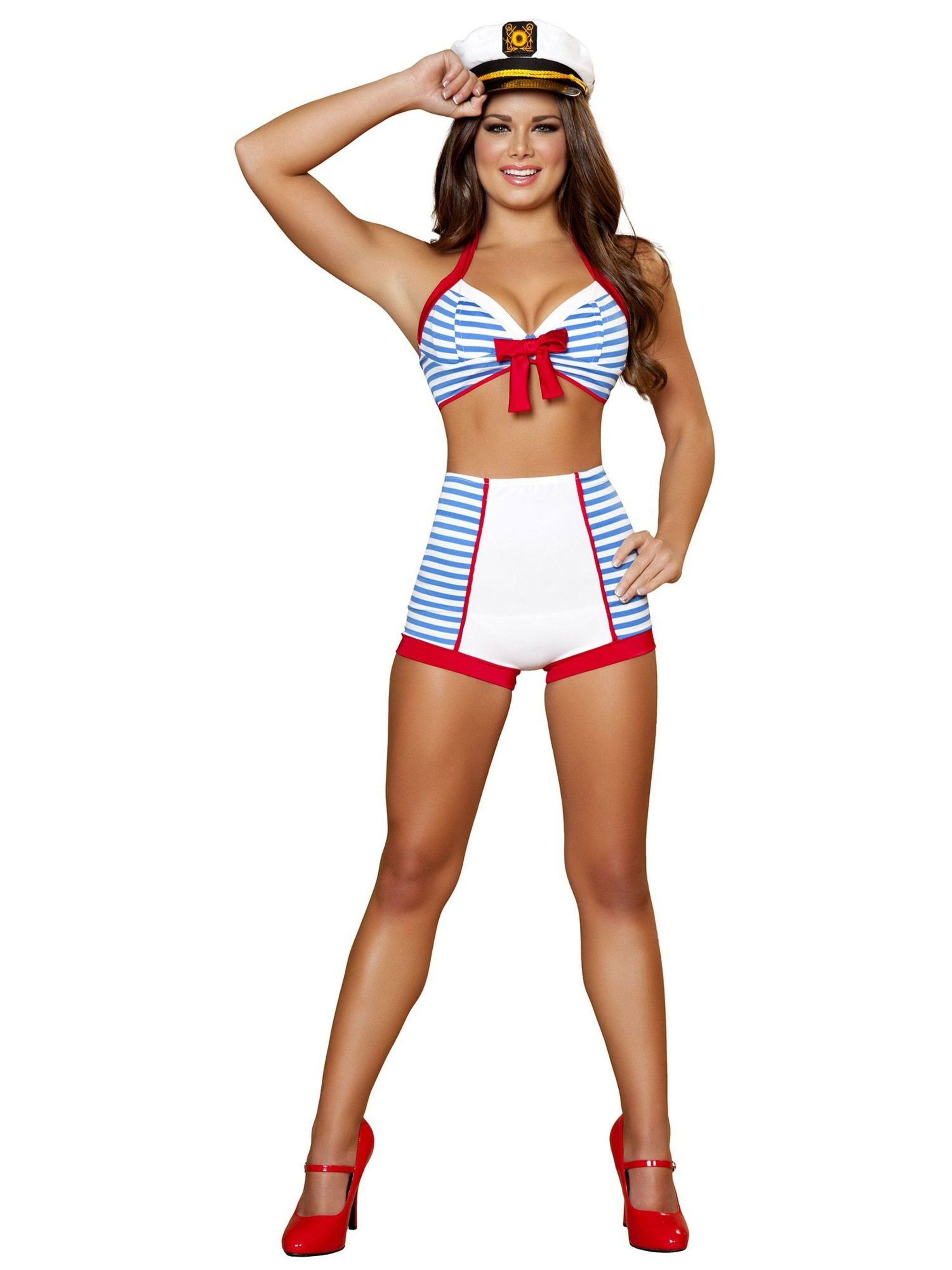 Sexy Playful Pinup Sailor Women's Costume. View Larger Image · Larger View  of Product · Larger View of Product ...