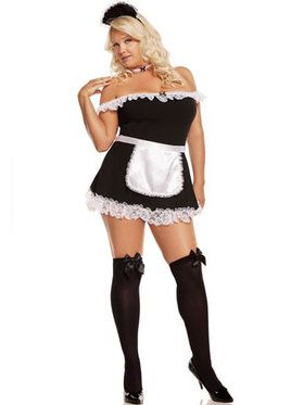 Sexy Plus Maid Costume