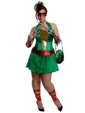 Sexy Plus Size Teenage Mutant Ninja Turtles Raphael Adult Costume