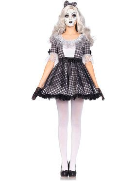 Sexy Pretty Porcelain Doll Women's Costume