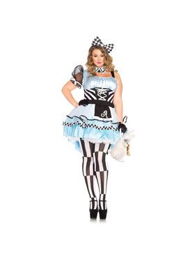 Sexy Psychedelic Alice Plus Women's Costume
