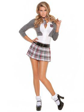 Sexy Queen of Detention Women's Costume